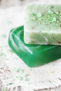 Green Handmade Soap Royalty Free Stock Image - 30822086