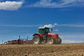 Tractor And Plow Royalty Free Stock Photos - 30839828