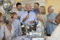 Senior Man Celebrating Retirement With Family And Friends Royalty Free Stock Photo - 30843555
