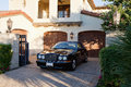 Luxurious Car Parked In Entrance Gate Of House Royalty Free Stock Photography - 30851187