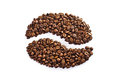 Coffee Bean Made Up Of A Set Of Grains Royalty Free Stock Photography - 30861677