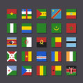 Africa Flag Icon Set Metro Style Royalty Free Stock Image - 30876986