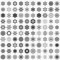 Big Set Of Snowflakes Royalty Free Stock Photography - 30884007