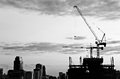 Industrial Construction Cranes And City Royalty Free Stock Image - 30887036