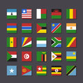 Africa Flag Icon Set Metro Style Royalty Free Stock Photos - 30887628
