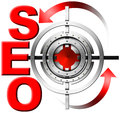 SEO Metal Target Royalty Free Stock Photo - 30888875