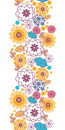 Colorful Oriental Flowers Vertical Seamless Royalty Free Stock Image - 30891046