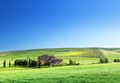 Tuscany Landscape With Typical Farm House Royalty Free Stock Images - 30892749