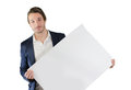 Young Man Holding Blank White Board Or Sign Royalty Free Stock Photo - 30894265