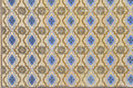 Portuguese Blue And Yellow Glazed Tiles, Textures, Craft Royalty Free Stock Photo - 30895865