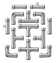 Chrome Pipe Collection Royalty Free Stock Photography - 30897457