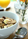 Bran Cereal With Banana Chips Stock Photo - 3091710