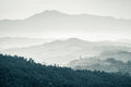 Mountains Under Mist Stock Image - 30914541