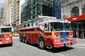 Red Fire Truck In New York City Stock Photography - 30915032