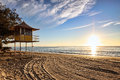 Lifeguard Patrol Tower At Sunrise Royalty Free Stock Photos - 30916308
