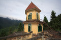 Ancient French Colonial Dome Building Against Fog In Sapa Stock Photo - 30916470