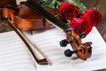 Violin, Rose And Music Books Royalty Free Stock Images - 30924719