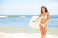 Surfer Girl - Body Surfing Beach Woman Laughing Royalty Free Stock Photography - 30927827
