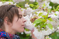A Beautiful Woman Enjoying The Serenity Of Spring Royalty Free Stock Photography - 30932247