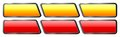 Set Of Orange And Red Glass Buttons Stock Photo - 30949700
