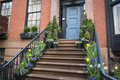 Stairs To A Doorway Of An Old Apartment, New York City Stock Photo - 30950480