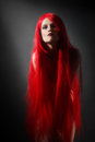 Red Hair Woman Hairstyle Royalty Free Stock Images - 30957879