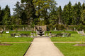 Path In A Garden With A Fountain Stock Photo - 30960910
