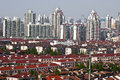 Red Roofs Of Shanghai Royalty Free Stock Photography - 30988197