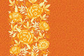 Fire Flowers And Leaves Vertical Seamless Pattern Royalty Free Stock Image - 30992446