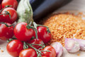 Cherry Tomatoes With Other Ingredients Royalty Free Stock Photography - 30996177