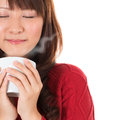 Enjoying A Cup Of Coffee Royalty Free Stock Photos - 30999358