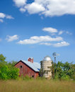 Old Red Barn And Silo Stock Images - 3105334