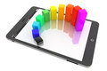 Mobile Business Concept. Colorful Graph Over A Tablet PC Royalty Free Stock Image - 31000336