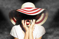 Lady With Hat Royalty Free Stock Photos - 31005788