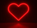 Red Heart - Series Neon Signs Royalty Free Stock Photos - 31007918