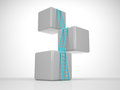 Tower Out Of Cubes - Reach Your Goal Royalty Free Stock Photography - 31008627