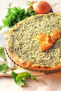 Sorrel Tart With Goat Cheese Royalty Free Stock Photography - 31044007