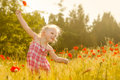 Beautiful Little Girl On A Meadow Royalty Free Stock Photo - 31063405