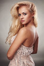 Beautiful Passion Blond Woman In Dress Royalty Free Stock Photos - 31074088