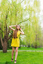 Woman In Spring Park Royalty Free Stock Photos - 31084828