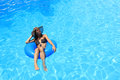 Young Woman Enjoying The Swimming Pool Royalty Free Stock Photography - 31097157