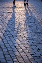 Walking People S Shadows Royalty Free Stock Images - 3110269