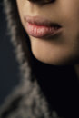 Girl Lips Close-up Royalty Free Stock Images - 31109049