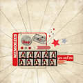 Vintage Scrap Template For Your Memories With Phot Royalty Free Stock Photography - 31110107