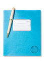 Blue Exercise Book And Pen Royalty Free Stock Images - 31117139