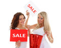 Young  Women With Sale Sign. Stock Image - 31118691