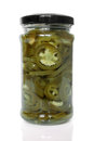 Slices Of Preserved Jalapeno Pepper In Glass Jar Royalty Free Stock Photos - 31121318