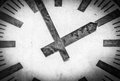 Retro Clock Face With Two Hands And No Numbers. Royalty Free Stock Image - 31122456