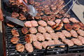 Hamburgers On Barbeque Stock Photo - 31139850