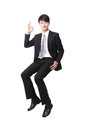 Successful Business Man Sitting On Something Royalty Free Stock Images - 31142279